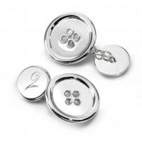 Lucy Q Button Cufflinks