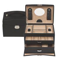 Black Leather Jewel Box
