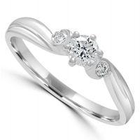 9ct 3 Stone Diamond Ring