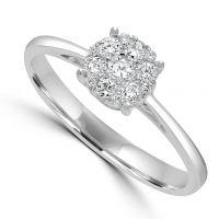 18ct Diamond Cluster Ring