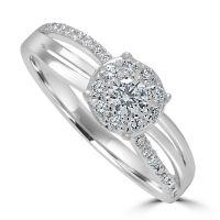 9ct Diamond Cluster Ring