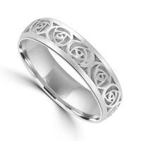 Silver Celtic Wedding Ring