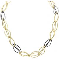 Yellow Gold & Oxidised Silver