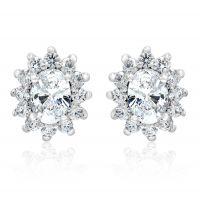 Silver Swarovski Stud Earrings