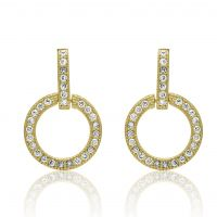 Silver Gold Plated Cz Earrings