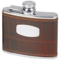 Stainless Steel/ Leather Flask