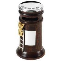 Silver & Wood Money Box