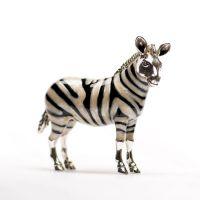 Silver Enamel Zebra