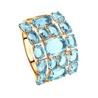 Sokolov 14ct Blue Topaz Ring