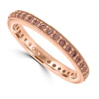 Silver Rose Gold Cz Ring