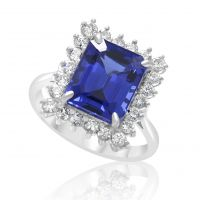 18ct Tanzanite & Diamond Ring