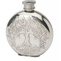 4oz Round Tree Of Life Flask