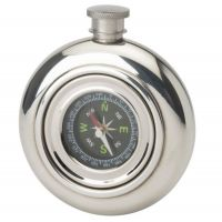 6oz Working Compass Flask