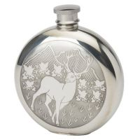 6oz Round Stag Flask