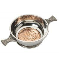 "2"" Celtic Copper Quaich"