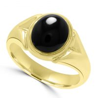9ct Gents Onyx Ring