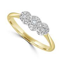 18ct & Platinum Diamond Ring