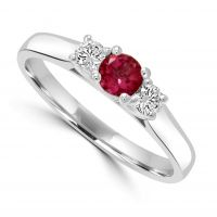 9ct Tourmaline & Diamond Ring