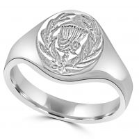 Silver Thistle Signet Ring