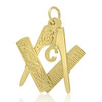 9ct Folding Masonic Charm