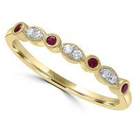 9ct Ruby & Diamond Ring