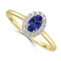 9ct Tanzanite & Diamond Ring