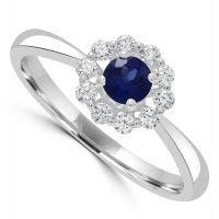 Platinum Sapphire/diamond Ring