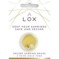 Lox Gold Tone Earring Backs