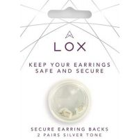 Lox Silver Tone Earring Backs