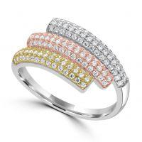 Silver Cz Dress Ring