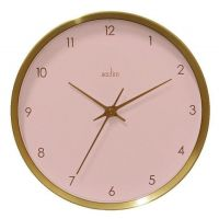 Acctim Gold / Pink Wall Clock