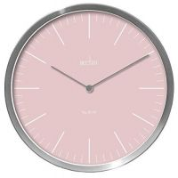 Acctim Silver Pink Wall Clock