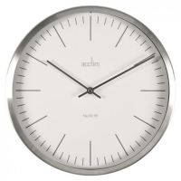 Acctim Silver White Wall Clock