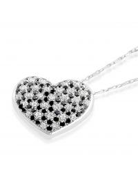 18ct Black Diamond Pendant