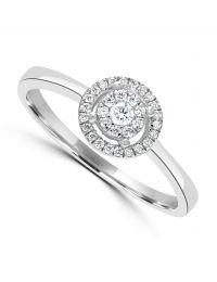 9ct Halo Diamond Cluster Ring